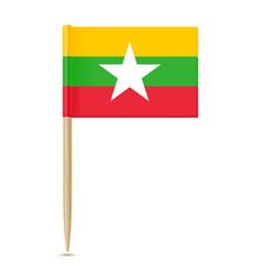 flag of myanmar flag toothpick vector image vector image