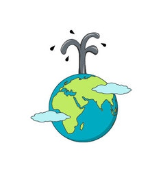 Isolated cartoon the earth and oil business vector image