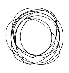 Simple hand drawn doodle circle template vector image