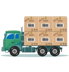 Truck With Cargo vector image