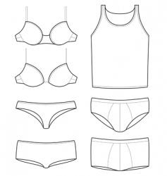 underwear templates vector image