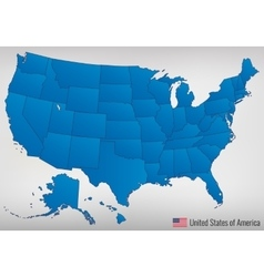 USA map with federal states All states are vector image