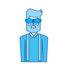 blue icon upper body man vector image