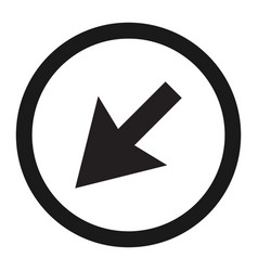 Detour to the left sign line icon vector