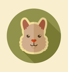 lama flat icon animal head symbol vector image vector image