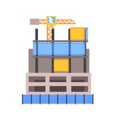 modern building construction vector image