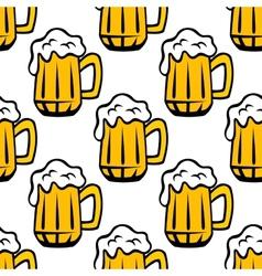 Beer tankard seamless pattern vector image