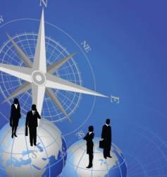 compass globe figure vector image vector image