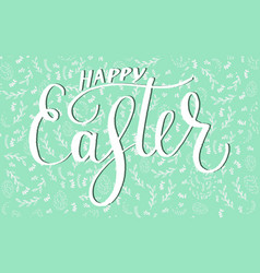 happy easter egg lettering vector image vector image