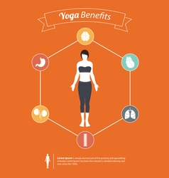Set of yoga poses infographic in flat design vector image