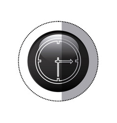 sticker black circular frame with wall clock icon vector image