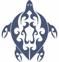 tribal turtle tattoo vector image vector image