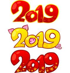 2019 happy new year design elements vector image