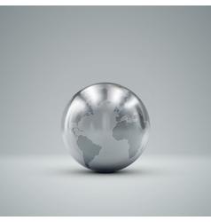 3D metallic globe vector