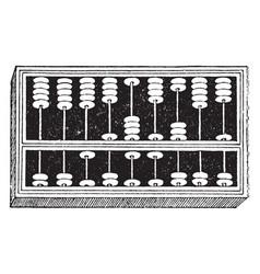 Abacus vintage vector