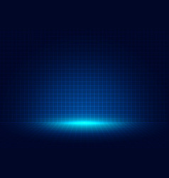 Abstract blue grid perspective design background vector