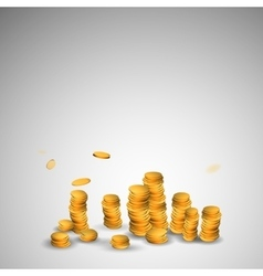 Abstract picture of gold coins vector