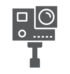 Action camera glyph icon electronic and digital vector