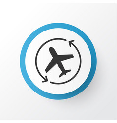 Airplane direction icon symbol premium quality vector