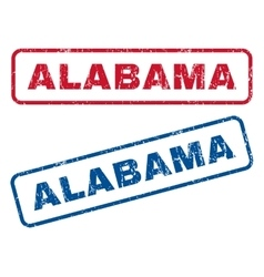 Alabama rubber stamps vector