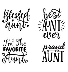 Aunt t-shirt design hand lettering vector