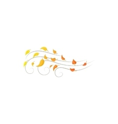 Autumn wind icon cartoon style vector image