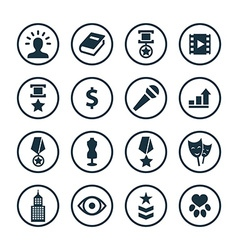 award icons universal set vector image