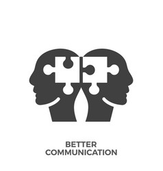 Better communication glyph icon vector