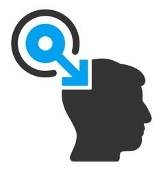 Brain Interface Plug-In Flat Icon vector