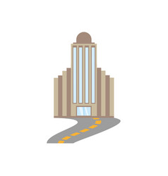 Building corporate town road vector