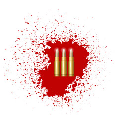 Bullet set isolated vector