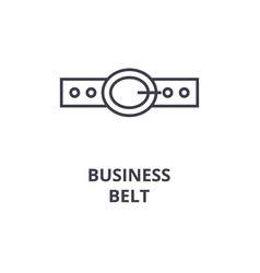 business belt line icon outline sign linear vector image