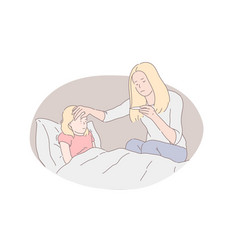 Childcare motherhood parental care concept vector