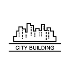city building business logo vector image