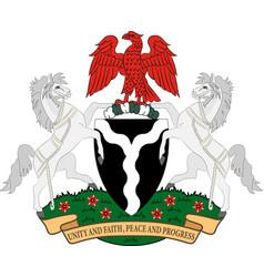 Coat of arms of federal republic of nigeria vector