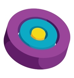 Colorful circles icon cartoon style vector image