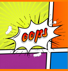 Comic collection colored sound chat text effects vector