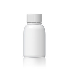 cool realistic white plastic bottle vector image