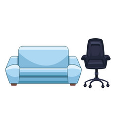 Couch and office chair vector