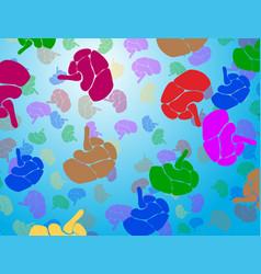 Creative concept human brain eps10 vector