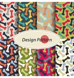 Dog Bone pattern set vector