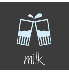 Drink milk design banner and background eps10 vector