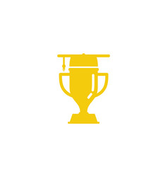 education trophy logo icon design vector image