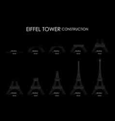 Eiffel tower construction vector