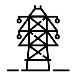 Electric pole line vector