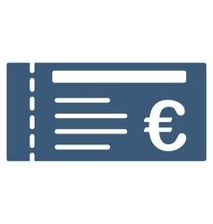 Euro Ticket Flat Icon vector image
