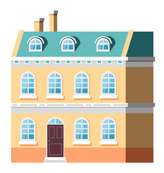 exterior multi-storey building house vector image