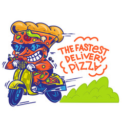 fastest delivery pizza vector image