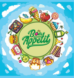 Food planet series vector