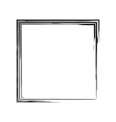 Frame square ink grunge background vector image